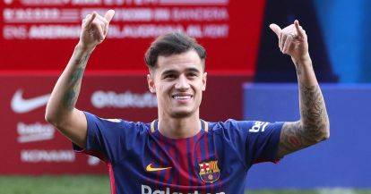 FC-Barcelona-present-new-signing-Philippe-Coutinho